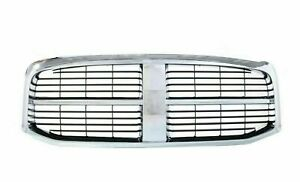 New Chrome And Black Grille For 2006 2008 Dodge Ram 1500 2006 2009 Ram 2500 3500