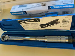 Silverline 3 8 Drive Torque Wrench 8 105nm socket Adaptor Extension Reversible