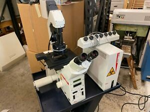 Leica Ctr Mic Confocal Microscope And Controller