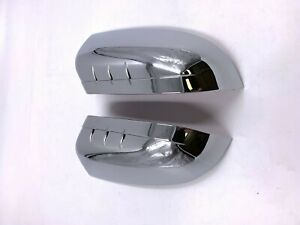 For 2011 2014 Ford Edge Chrome Top Half Mirror Covers Caps Pair