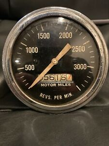 Vintage Stewart Warner Tachometer 3500 Rpm Gauge Scta Vintage Hot Rod Dash Panel