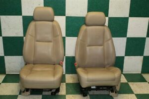 2009 Escalade Tan Leather Front Lh Rh Heated Cooled Power Bucket Seats Pair Oem