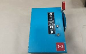 Ge 30 Amp Non fused Safety Switch 600 Vac 3 Hp 3 Phase Thn3361j 1007a5pr2