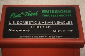 Snap On Mt2500 5991 Emissions Troubleshooter Cartridge Asian Domestic Mt2500