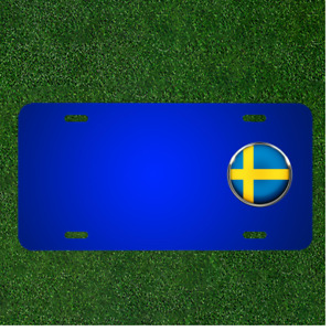 Custom Personalized License Plate With Add Names To Sweden Flag Country