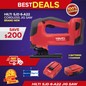 Hilti Cordless Orbital Jig Saw Sjd 6 a22 Brand New Complete Set Fast Shipping