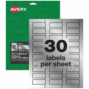 Avery Permatrack Laser Asset Tag Labels 3 4 X 61524