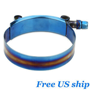 1x 78mm 86mm Blue Stainless Steel T Bolt Clamp For 3 07 3 38 Silicone Hose