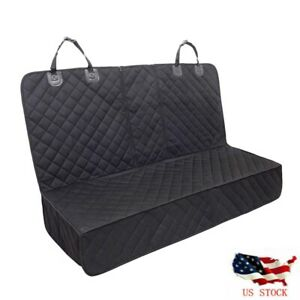 Pet Car Seat Cover Waterproof For Dog Cat Back Bench Seat Armrest Compatible