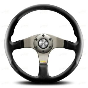 Momo Steering Wheel Leather Tuner Silver Anthracite 350mm 11110335111l