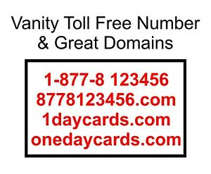 Domain With 877 8 123456 Toll Free Vanity Number Easy To Remember