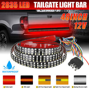 48 Truck Tailgate Strip Led Sequential Turn Signal Brake Tail Reverse Light Bar