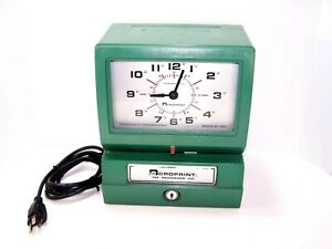 Acroprint 150rr4 Heavy Duty Automatic Time Clock Works Great With Key
