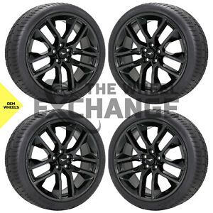 20 Ford Mustang Gt Black Chrome Wheels Rims Tires Factory Oem Set 4 10039