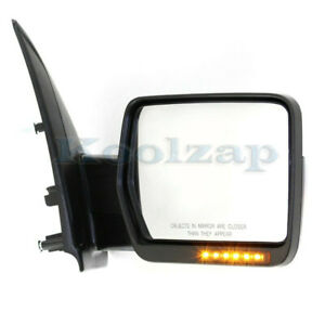 09 10 F150 Rear View Door Mirror Power Folding W Signal Puddle Lamp Right Side