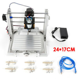 Cnc 2417 Usb Desktop Metal Mini Engraver Pcb Milling Machine Diy Mill Router Set