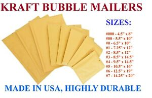 Kraft Bubble Mailers Padded Envelopes Protective Packaging Pouch Bags Shipping