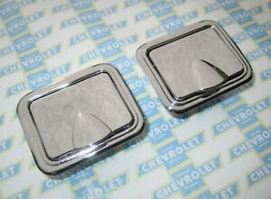 1958 1967 Chevelle Impala Malibu Nova Pontiac Gto Lemans Chrome Rear Ash Trays 2