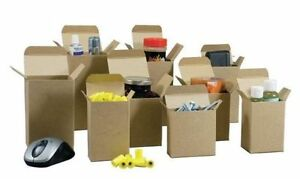 4 X 4 X 5 Cartons Reverse Tuck Boxes 500 lot Kraft Containers