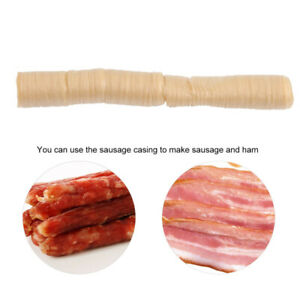 Edible Natural Sausage Casing Ham Skin Collagen Casing Smoked Roast 14m 26mm