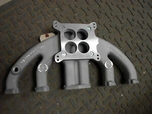 Nos Offy Offenhauser Barracuda Lancer Dart Valiant 170 225 4 Barrel Intake