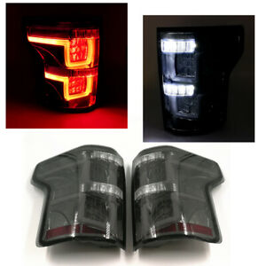 For 2015 2016 2017 Ford F150 Led Tail Lights Lamps Smoked Lens W o Blind Spot