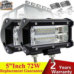1200w Led Cree Work Light Bar Flood Beam Suv Driving Fog Driving Lamps Off road