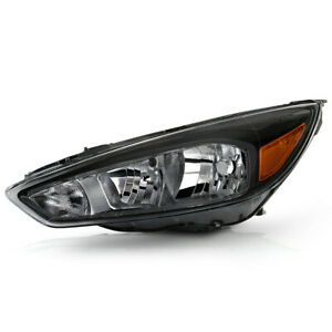 For 15 18 Ford Focus W O Drl Headlight Replacement Left Driver Side Assembly