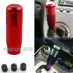 Universal Automatic Manual Red Gear Stick Shift Selector Boot Knob Shifter Jdm