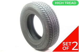 Set Of 2 Used 265 70r17 Dunlop Grandtrek At20 113s 9 5 32