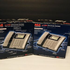 Rca Model 25404re3 a Executive Series 4 line Business Phone Quantity Of 2