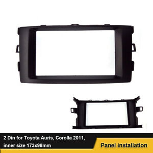 For Toyota Auris 2006 2012 Corolla Car Stereo Radio Fascia Panel Trim Kit Frame