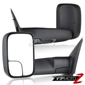 Pair Side View Manual Towing Mirrors Trailer Folding 02 08 Dodge Ram V8 Pickup