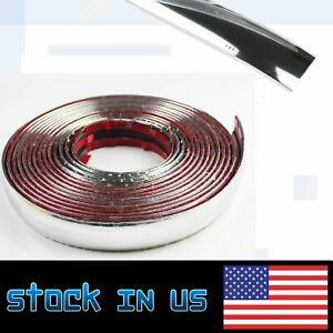 Chrome Molding Decorative Trim Soft Strip 3 4 Width For Cars Window Door Guard