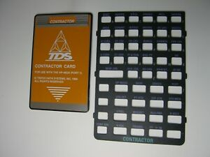 Tds Contractor Card With Overlay For Use With The Hp 48gx port 1