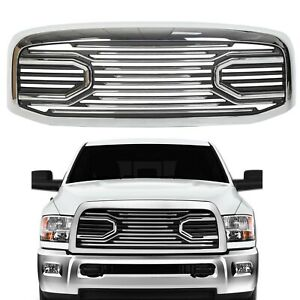 New Front Hood Chrome Grille Replacement Shell For 2006 09 Dodge Ram 2500 3500