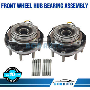 2x New Front Wheel Hub And Bearing Assembly For 02 06 Equinox Torrent Vue W Abs