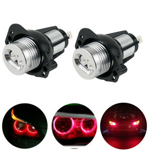 Red Angel Eye Red Halo Ring Led Headlight Bulb Fits For Bmw E90 E91 325i 328i
