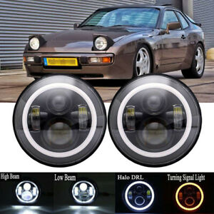 For Porsche 944 Led Projector Headlight Hi Low Drl H4 Replace Hid Halogen Xenon