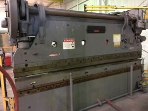 135 Ton 10 Cincinnati Mechanical Press Brake 5 Series W hurco Gauging System