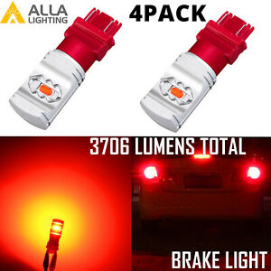 Red Led Brake tail turn Signal Light Bulb For 88 98 Chevrolet C1500 Set Of 4