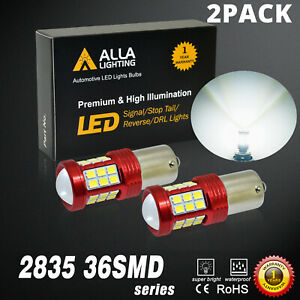 Alla Led White Backup Reverse Light Bulbs For 75 86 Chevrolet C10 Set Of 2 1156