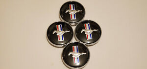 4x 60mm Wheel Rim Rims Center Hub Cap For Ford Mustang Running Horse 3d Logo