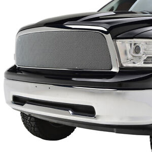 Fit For 2009 2012 Dodge Ram 1500 Chrome Stainless Steel Wire Mesh Grille shell