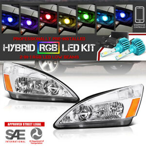 Adjustable Color Led Low Beam For Honda Accord 03 07 2 4dr Headlights Signal