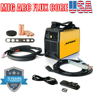 Mig Welder Flux Cored Wire Stick Arc Dc Igbt Welding Machine Automatic Feed 110v