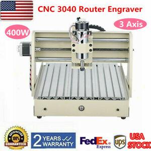 4 Axis 400w 3040 Cnc Router 3d Engraver Engraving Drilling Milling Machine Usa