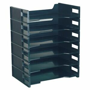 Innovative Storage Designs Stackable Letter Trays Black Pack Of 6