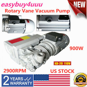 New Xd 20 110v Rotary Vane Vacuum Pump Single Stage Suction Pump Motor 20m h