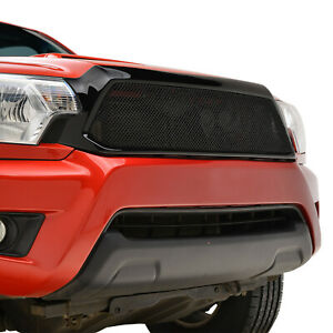 Fits 2012 2015 Toyota Tacoma Grille Black Stainless Steel Replacement